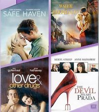 4 romance movies Safe Haven/Water 4 Elephants/Love & Other Drugs/Prada new DVDs