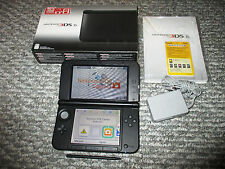 Nintendo 3DS XL Black System Console in Box w/Charger FREE Shipping!