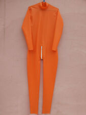 100% Latex Gummi Rubber Full-body Ganzanzug Tights Full-body Orange Size XS-XXL