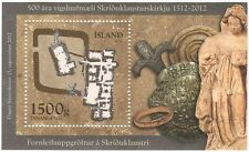 Iceland 2012 Stamp Day/Archaeology/Coins/Statue/Heritage/History 1v m/s (n42316)