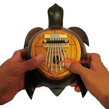 KALIMBA AFRICAN THUMB PIANO TURTLE SHAPE (MBIRA SNAZA KARIMBA)- Free Shipping WW