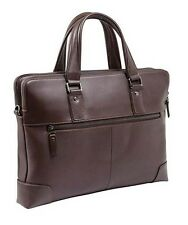 "14"" inch Laptop Tablet Genuine Leather Carrying Bag Pouch Case for Notebook"