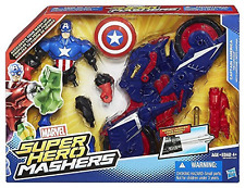 Marvel toy-super hero mashers-captain america deluxe action figure avec pace