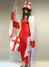 England St. Georges Large Flag 5' x 3' with Kit Hat Cape Wavy Hand & 2 x Batons