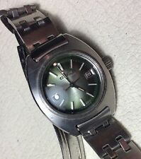 Citizen Ladies Cosmostar V2 Green Dial 17 Jewel Automatic Date High Beat 28,800