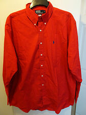 BNWT Mens Ralph Lauren Red Blaire Long Sleeved Shirt - Size XL