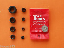 "DIE NUTS 8Pc SET UNF 1/4"" 5/16"" 3/8"" 7/16"" 1/2"" 9/16"" 5/8"" 3/4"" T&E TOOLS"