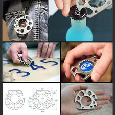 Outdoor Multi-function Mini Tool Wrench Screwdriver Bottle Opener Keyring  8in1
