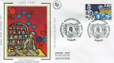 FRANCE FDC - 2968 1 PHARMACIE HOSPITALIERE - PARIS 23 Sept 1995 - LUXE sur soie