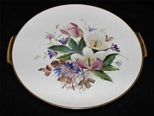 Vintage Rosenthal US Zone Hand Painted Chop Plate Platter Purple & White Flowers