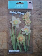 EK SUCCESS JOLEE'S BOUTIQUE DAFFODILS DIMENSIONAL STICKERS BNIP