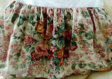 Ralph Lauren Allison Twin Dust Ruffle Shabby Floral Bed Skirt Cottage Cotton
