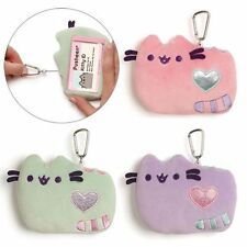 Gund New * Pastel PINK Pusheen ID Holder * Plush 5-Inch Cat Kitty Wallet Case