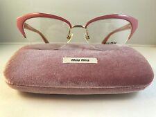 New Authentic Miu Miu VMU 50L eyeglasses LA9 1O1 pink gold