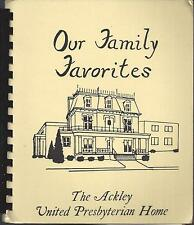 *ACKLEY IA 1984 UNITED PRESBYTERIAN HOME FRIENDS COOK BOOK *OUR FAMILY FAVORITES