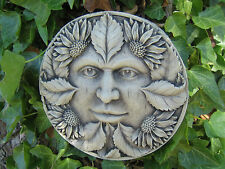 green man stone garden ornament (summer) | Many more ornaments in my shop!