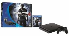 New! Sony PlayStation 4 Slim PS4 500GB Uncharted 4 Bundle - Ships Worldwide!