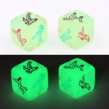 1pc SQUARE GLOW IN THE DARK Sesso Gioco Dadi camera da letto San Valentino amante regalo 6 lati