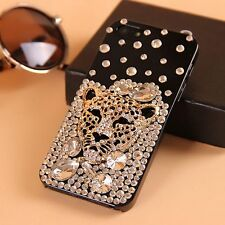 Leopard head Bling 3D Rhinestone Crystal Case cover for Apple iphone7 4.7' R541