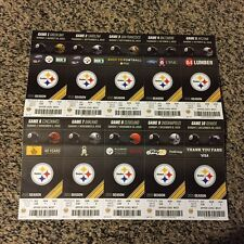 2015 PITTSBURGH STEELERS FULL FOOTBALL SEASON TICKET STRIP SHEET ANTONIO BROWN