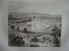Grande gravure du Château de FONTAINEBLEAU en 1722