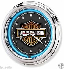 Harley-Davidson Essential Bar and Shield Neon Sign Retro Wall Clock Decor LED