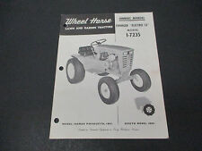 1967 Wheel Horse Lawn And Garden Tractors Owners Manual Model 1-7235 M006