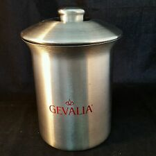 GEVALIA Stainless Steel Canister with Lid by Vonpok Rubber Seal for Freshness