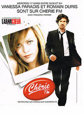 PUBLICITE ADVERTISING   2010   CHERIE FM   VANESSA PARADIS & ROMAIN DURIS