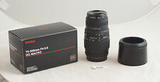 70-300mm Sigma DG Macro Zoom Lens for Canon Digital Rebel EOS EF with hood ✲290