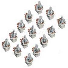15 Pcs A500k Push Pull Guitar Control Pot Potentiometer Splift Shaft:6mm