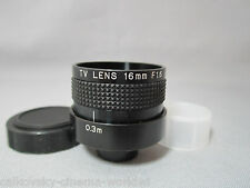 JAPAN FAST 1.6/16MM C-MOUNT LENS for 16MM MOVIE CAMERA CCTV TV SECURITY CAMERA