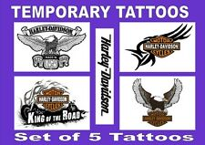 HARLEY DAVIDSON biker bike SMALL X4 temporary FACE & BODY TATTOOS  LAST 1 WEEK +