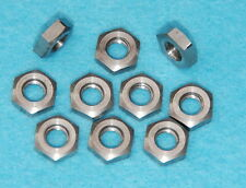 1/4 BSF 26 tpi Stainless Lock Nuts Semi Polished BSA Triumph Velo Vintage Manx