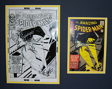 Original Production Art STEVE DITKO Amazing Spider-man #30 matted w/cover print