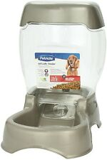 LARGE Pet AUTOMATIC Food Dispenser FEEDER Dog Cat Bowl Dish EASY CLEAN Lid 6lbs