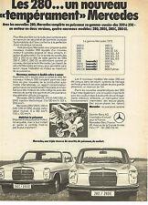 PUBLICITE ADVERTISING 054  1972  MERCEDES- BENZ 280 CE & E   un nouveau