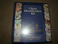 CHINA IDENTIFICATION KIT REPLACEMENTS CORNING, DANSK, LEFTON, NIKKO, IROQUOIS