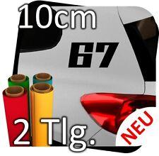 2x 10cm número libre elegibles número inicial auto auto dígito pegatinas deporte nº 22