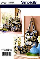 Simplicity Sewing Pattern 2551 Bags Purses Totes Handbags