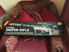 L115A3 SNOW LEOPARD BROWN SNIPER RIFLE GUN WITH STAND LIGHTS LASER  1mpw NEW