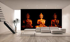 Three Statues of Buddha Wall Mural Photo Wallpaper GIANT WALL DECOR PAPER POSTER