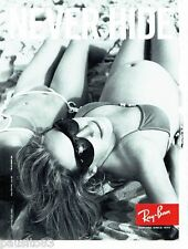 PUBLICITE ADVERTISING 116  2008  Ray-ban  lubnettes solaires Never Hide