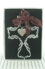 """MAY FAITH COMFORT YOU SILVER CROSS IN GIFT BOX~NEW~5"""" LONG x 3.5~FREE SHIP IN US"""