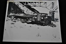 Vintage 1948 Police Photograph Wrecked Truck - Awesome!