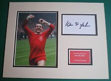 Genuine Ian St John Hand Signed Autograph Photo Mounted Display Liverpool Legend