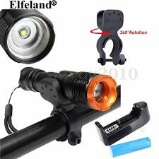 Elfeland 8000LM T6 LED Cycling Bike Torch Flashlight Head Front Light Lamp