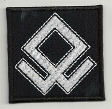 Odal rune embroidered patch, dimensions 2,4 X 2,4 INCH