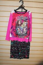 NEW GIRLS SIZE 6 6X MONSTER HIGH EVER AFTER HIGH PAJAMAS PJS PAJAMA 2PC SET