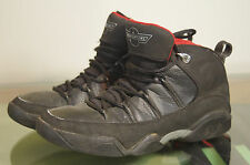 NIKE AIR JORDAN 9.5 Nine Point Five 314308-001 Black Varsity Red Sz 10